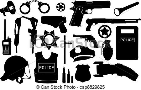Police clipart police equipment #4