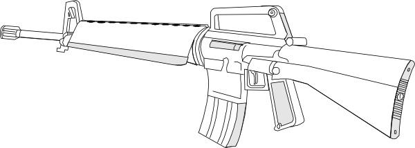 Rifle clipart firearm M16 M16 drawing Open clip