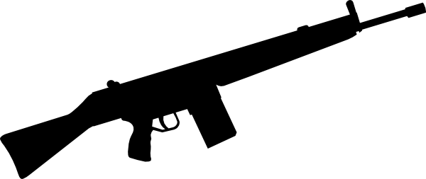 Rifle clipart silhouette Clip at art com online