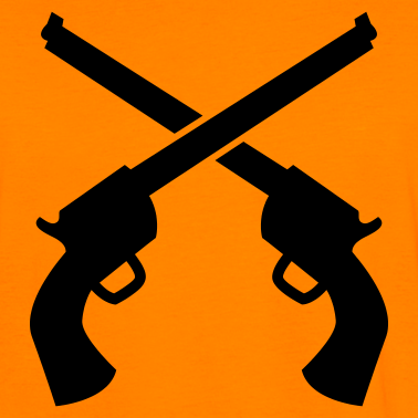 Weapon clipart cannon Crossed Clipart Clipart Pistols Pistols