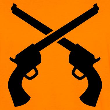 Pistol clipart two gun #14