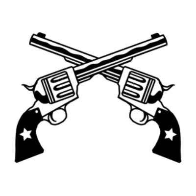 Rifle clipart two gun Guns Page Pistols Pages Crossed