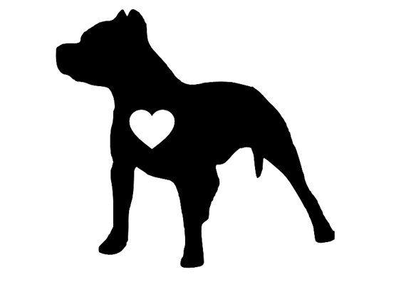 Pit Bull clipart american pitbull Art Decal on / Sticker