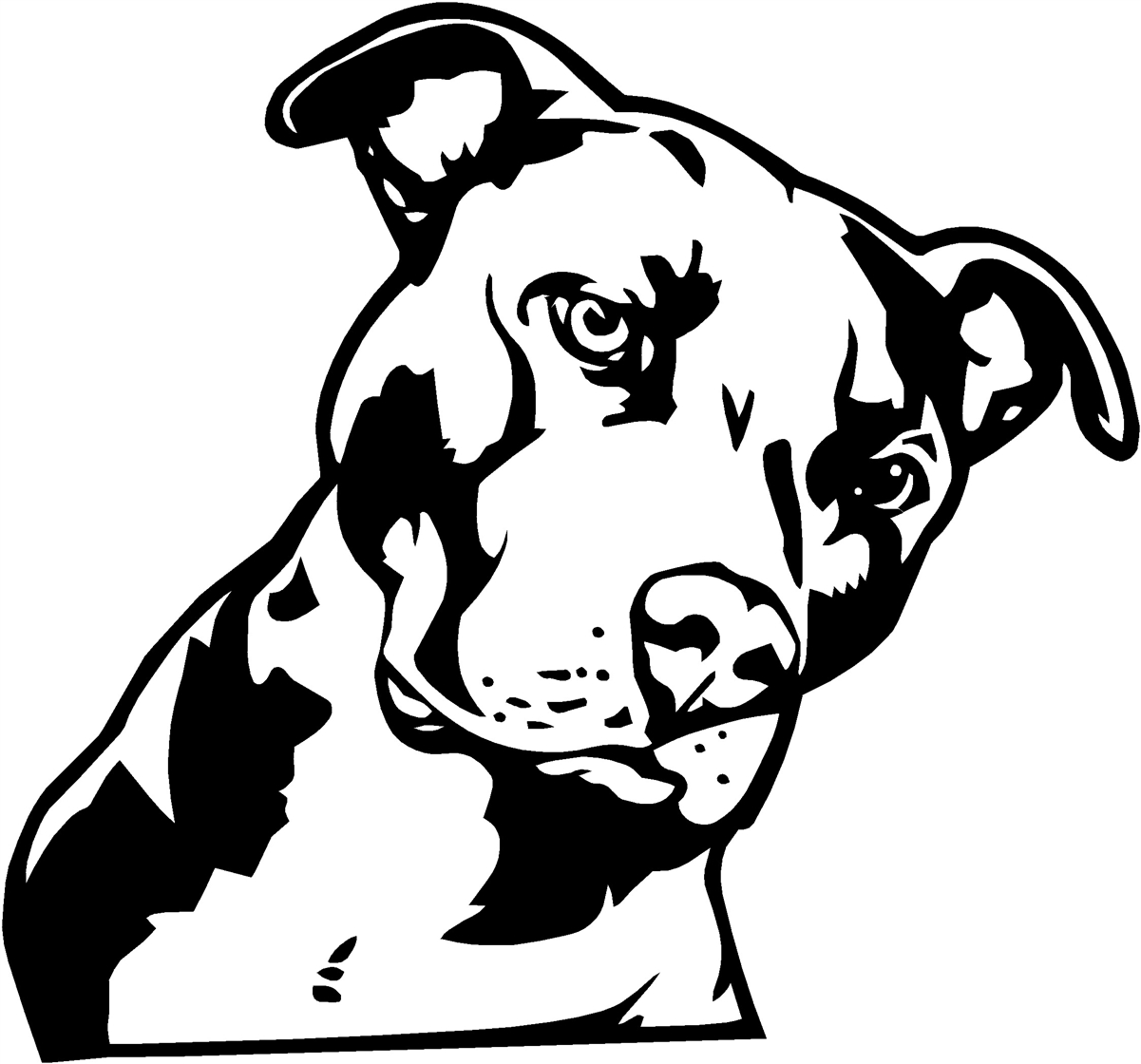 Bull clipart friendly Clipart clipart Pitbull angry Savoronmorehead