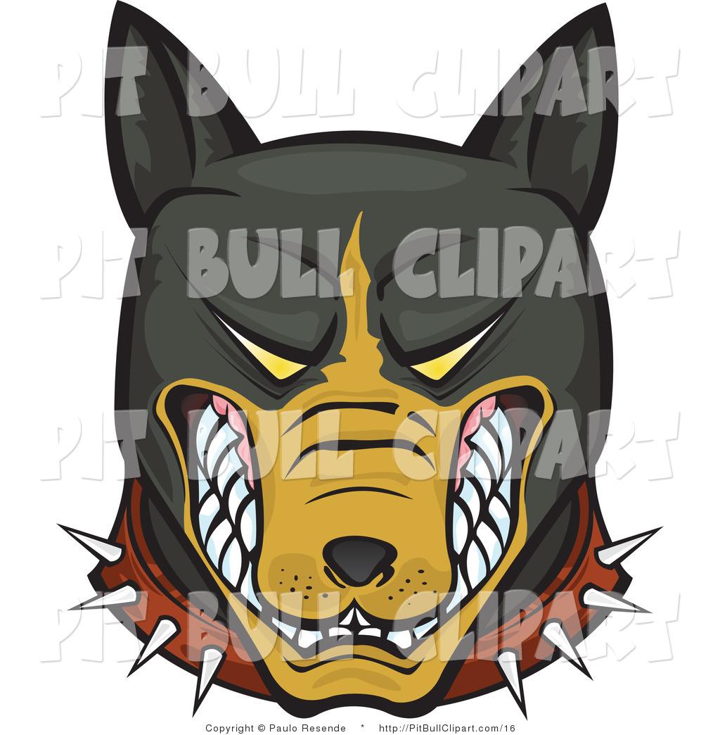 Pitbull clipart mean Aggressive Mean Free Bull Stock