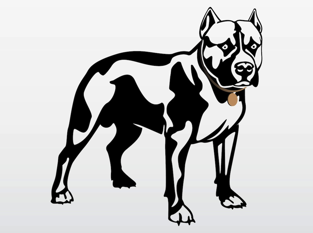 Pit Bull clipart black and white Pit Bull gallery Pit Collection