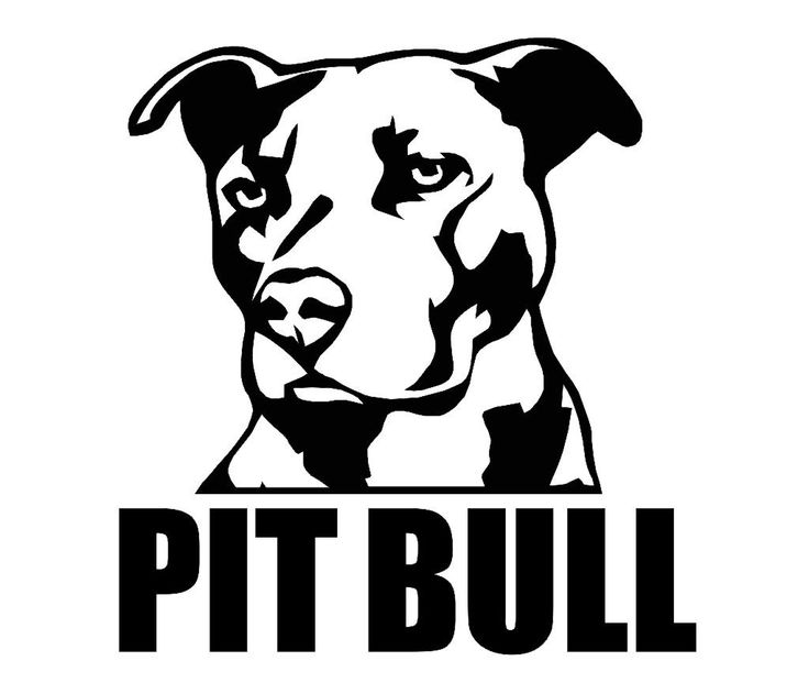 Pit Bull clipart spotted dog Pit Of Clipart  Silhouettes