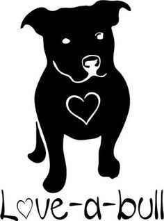 Pitbull clipart simple Outdoor Etsy On By 4