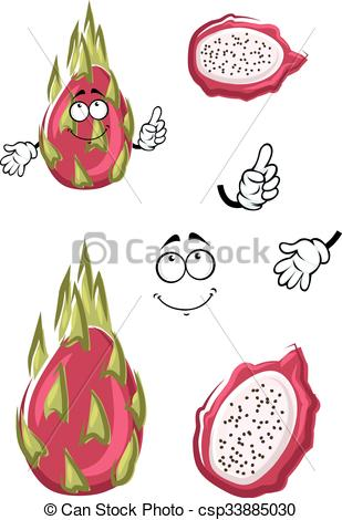 Pitaya clipart chinese dragon Exotic csp33885030 Cartoon of fruit