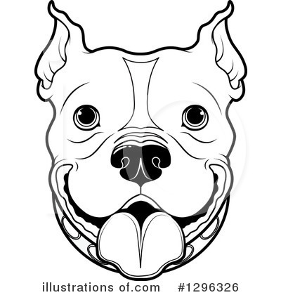 Pit Bull clipart black and white Clipart Free #1296326 Royalty Pushkin