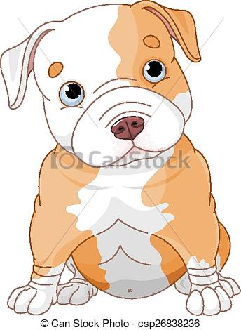 Pitbull clipart pitbul Pitbull Illustration Pitbull puppy of