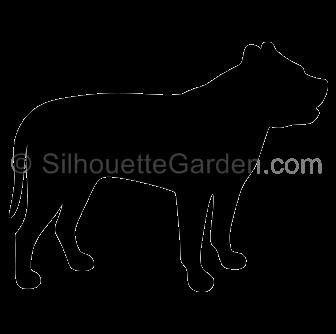Pitbull clipart silhouette Silhouette Bull Bull Silhouette Pit