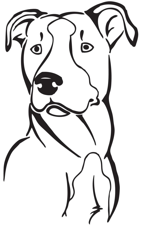 Pitbull clipart simple Coloring puppy pitbull sketch