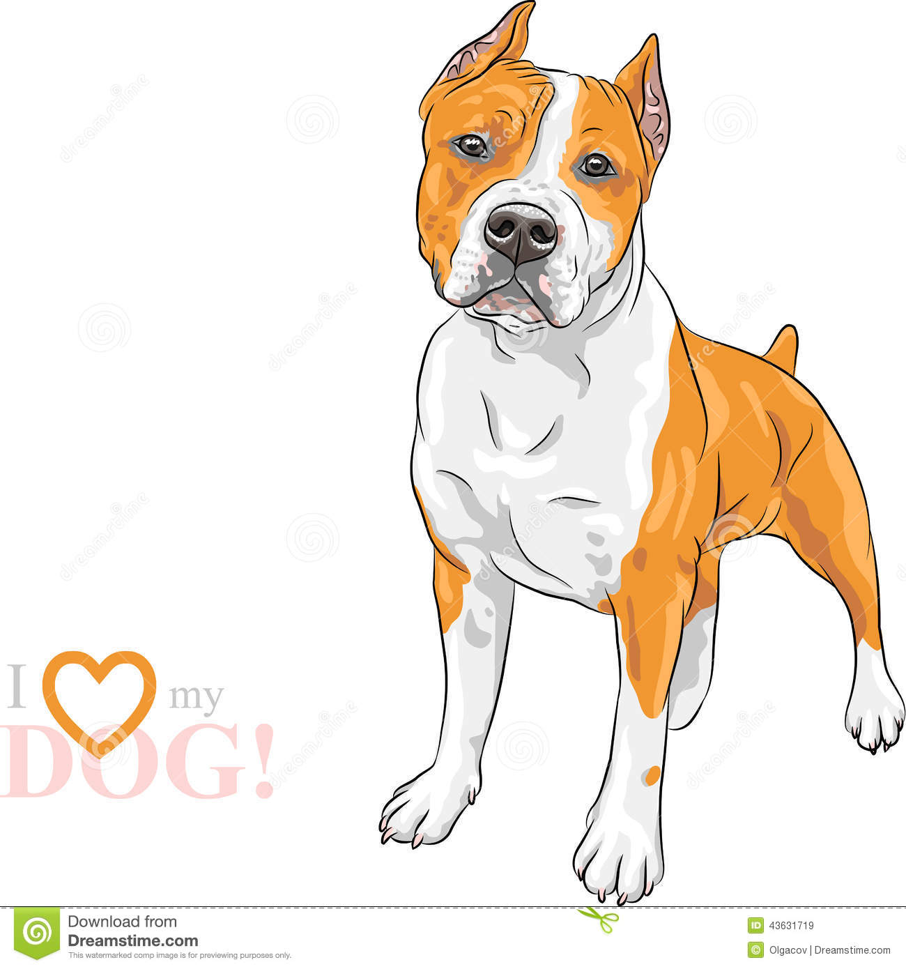 Pitbull clipart sketch Bull Pit  dog pit