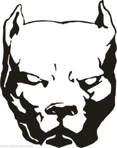 Pitbull clipart tribal Image idea from Pinterest Cool