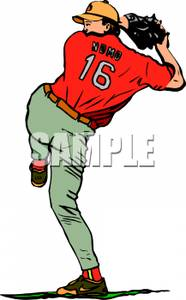 Pitcher clipart baseball #12