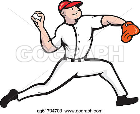 Pitcher clipart baseball #1