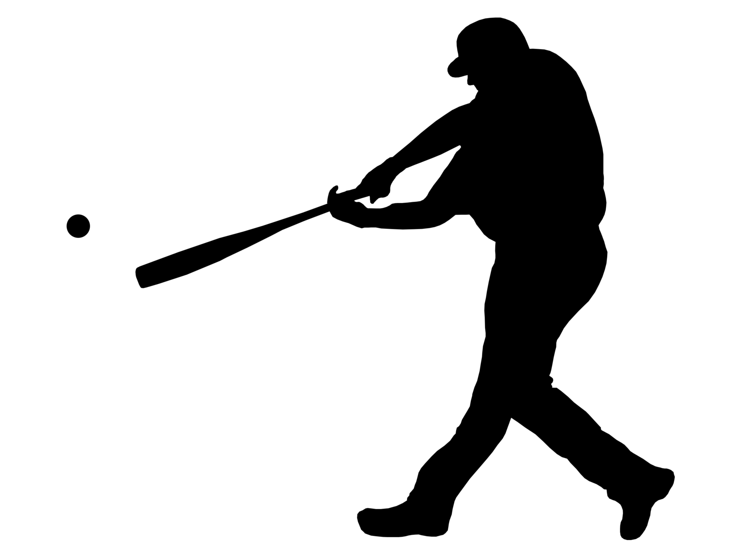 Baseball clipart baseball hit Clipart collection Player Clipart batter
