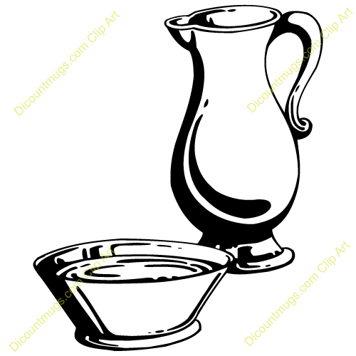 Towel clipart basin  Clipart pitcher water and