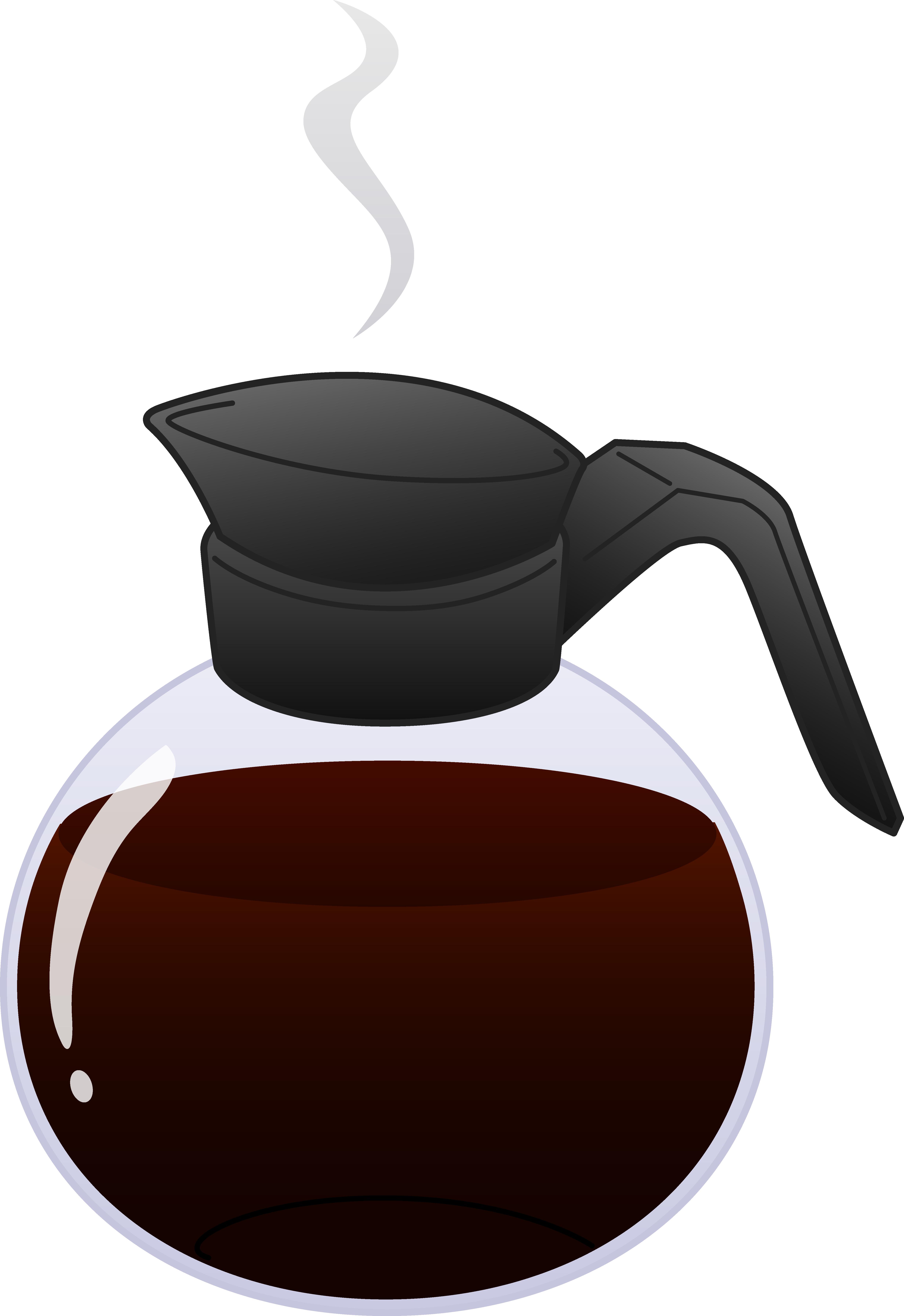 Coffee clipart cartoon Coffee Hot coffee Pot clipart