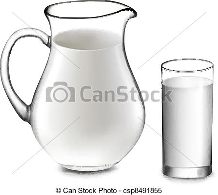 Milk Jug clipart glass drawing Milk Vector and jug