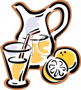 Beverage clipart lemonade pitcher Glass A Lemonade and Clipart