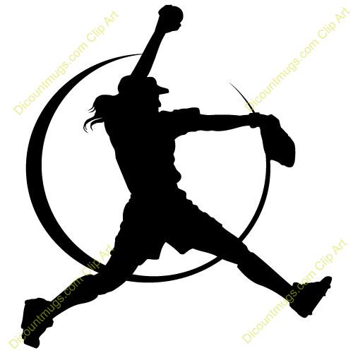 Shadow clipart softball #3