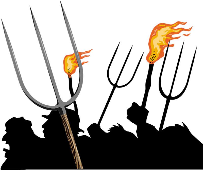 Pitchfork clipart torch #11