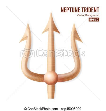 Pitchfork clipart trident Silhouette 3D Bronze of Neptune