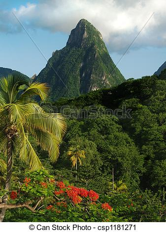 Pitons clipart #3