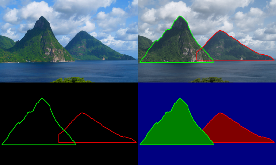 Pitons clipart #6