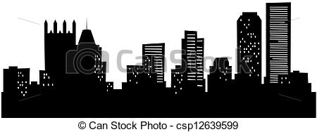 Pittsburgh clipart Clip Clipart Art Pittsburgh Skyline