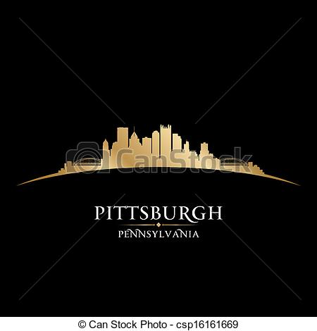 Pittsburgh clipart Of  silhouette Clipart skyline