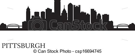 Pittsburgh clipart Skyline city Pittsburgh Vector