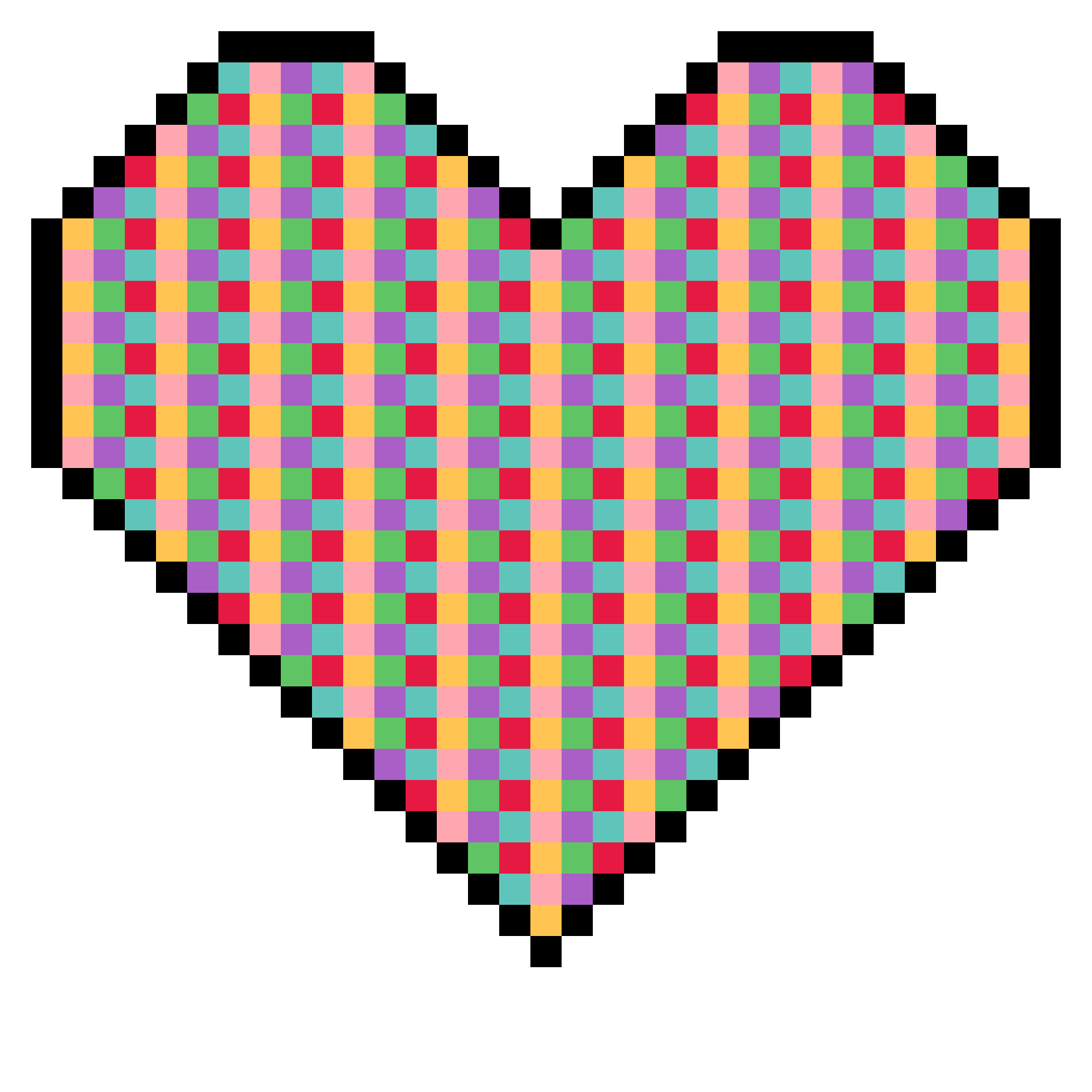 Pixel clipart Art art Clipart heart pixel