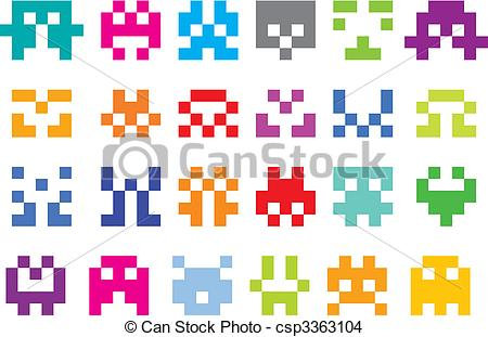 Pixel clipart computer mouse Invaders 379  Clip royalty