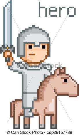 8 Bit clipart video game character Bit design game bit game