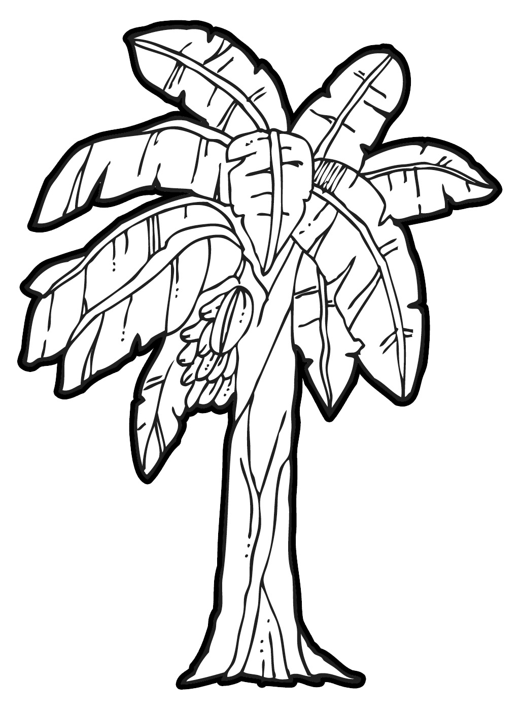 Banana clipart banana tree Clipart Vectors  Tree Banana