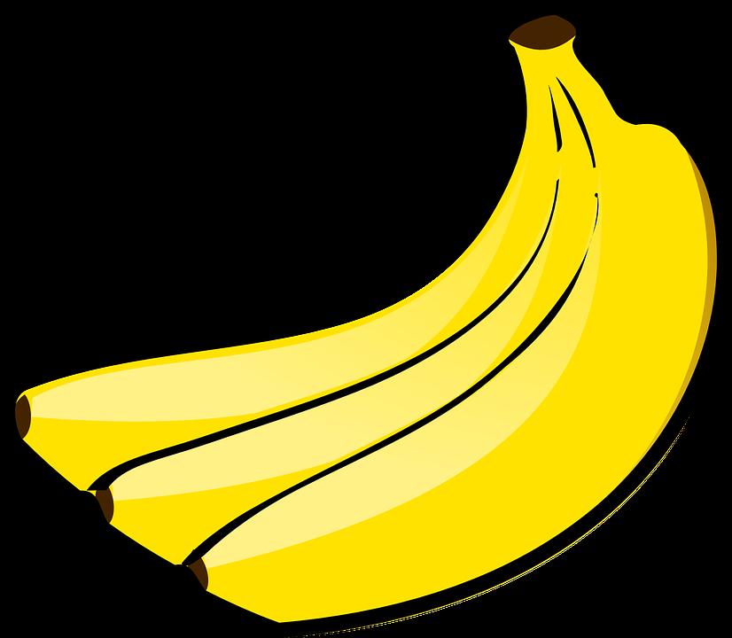 Pixel clipart banana Yellow Bunch photo Bananas Fruits