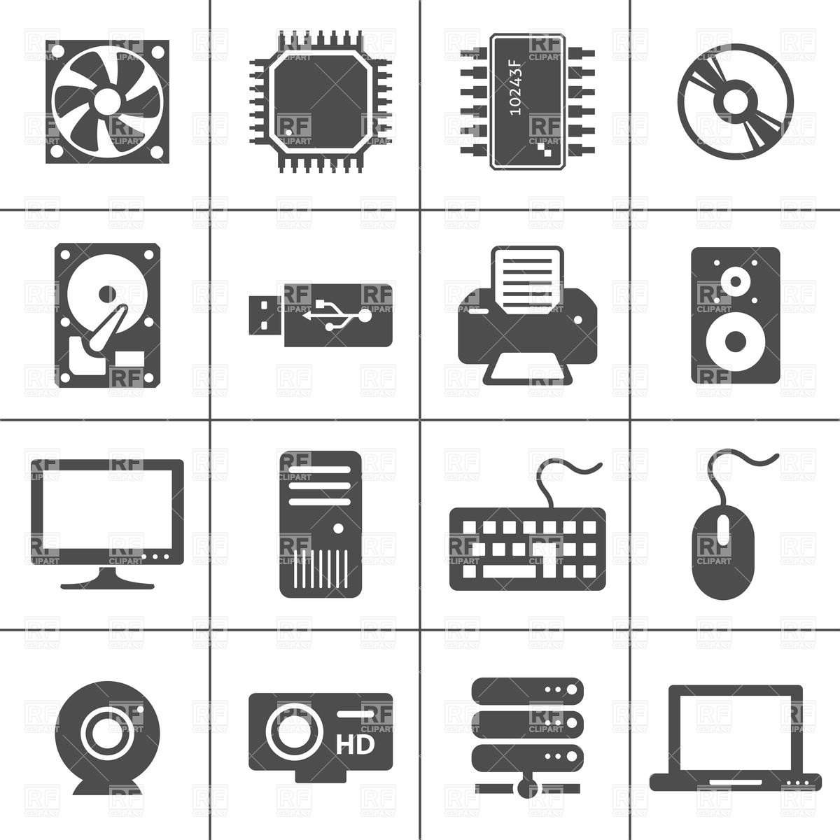Pixel clipart computer #5