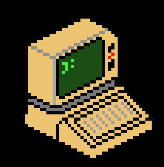 Pixel clipart computer #3