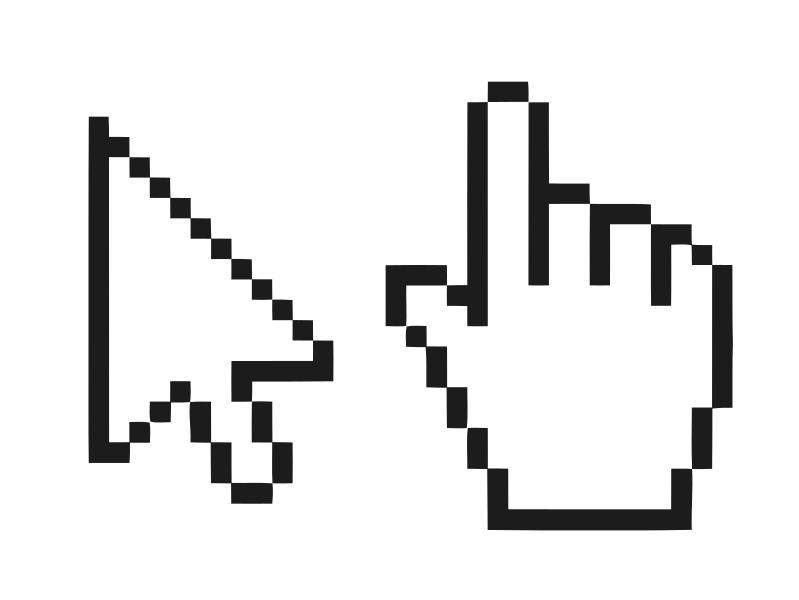 Pixel clipart computer mouse File:Mouse  hand Commons pointer