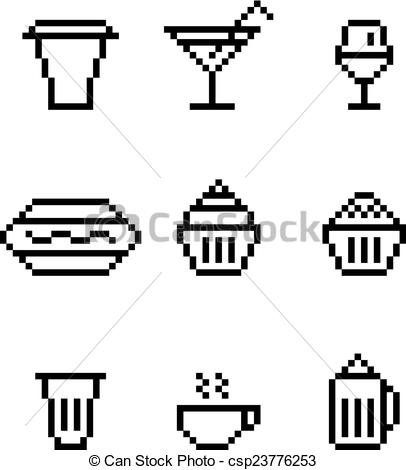 Pixel clipart glass Of drink glass dishes cofe