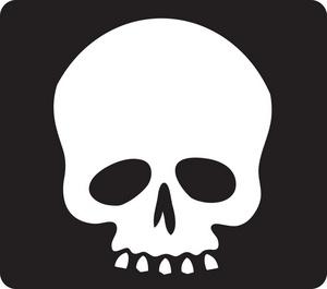 Pixel clipart skeleton head Clipart images halloween images head