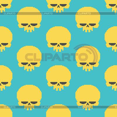 Pixel clipart skeleton head Retro 8 head © Clipart