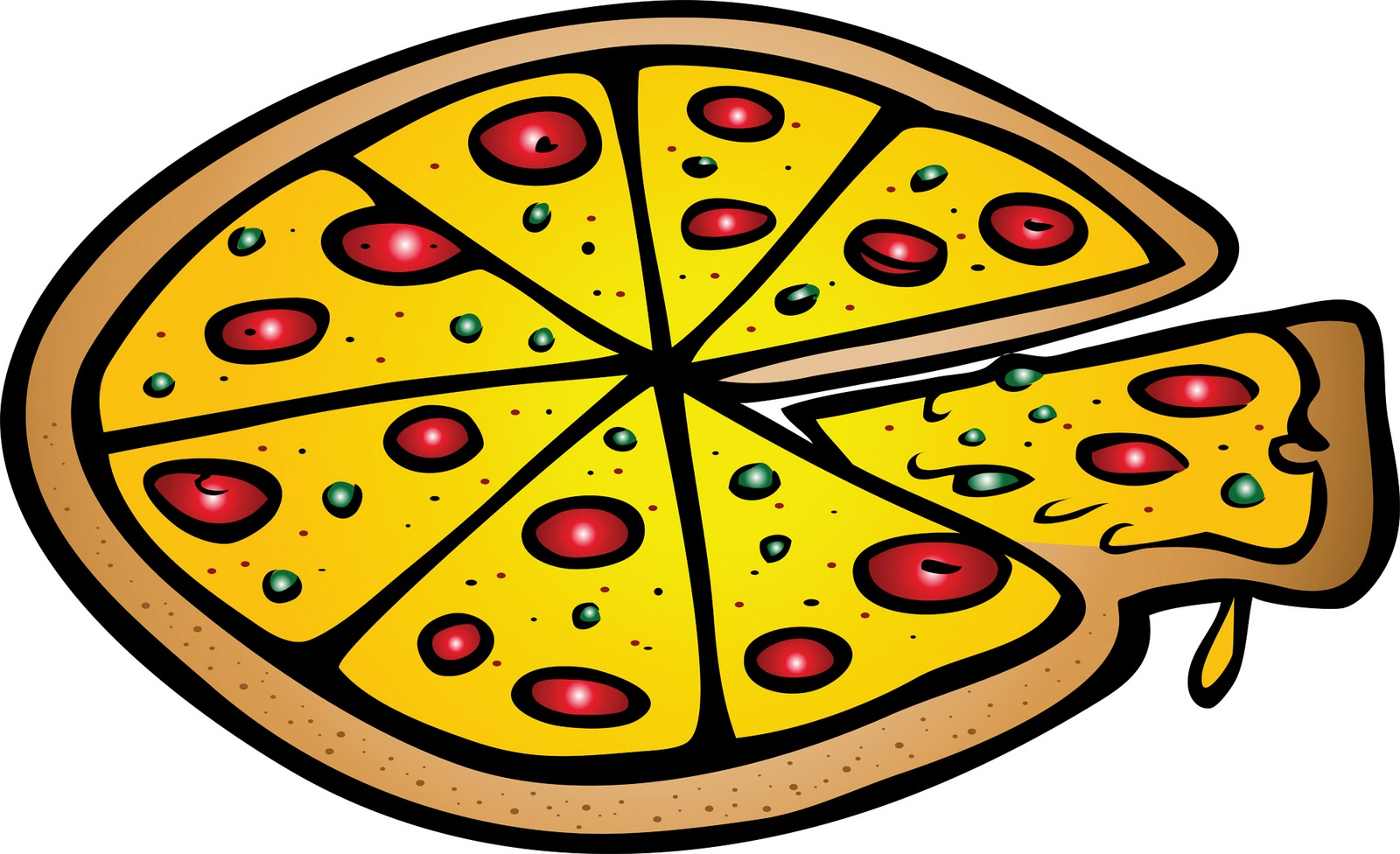 Pizza clipart heart shape Clipart clipart fans clip art