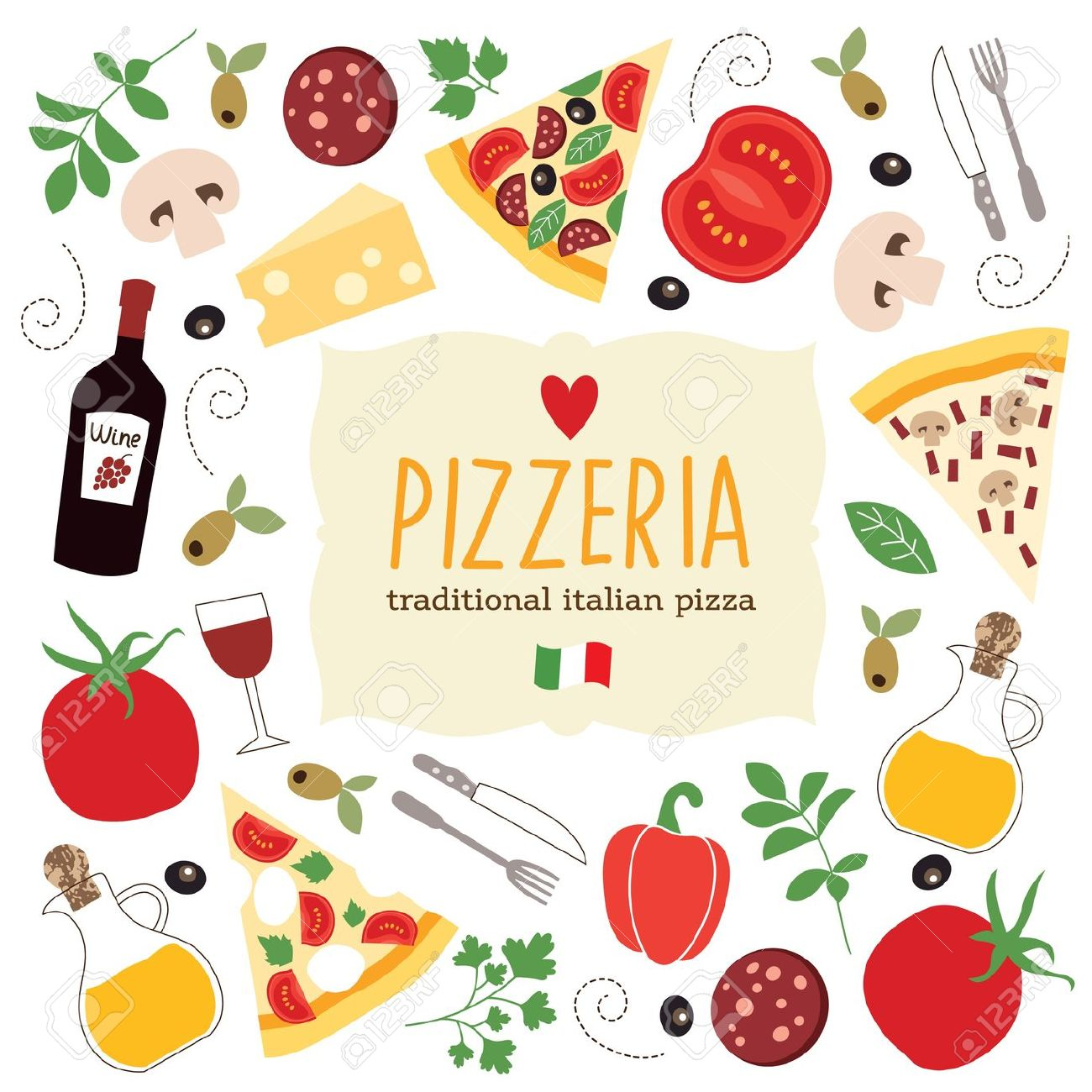 Pizza clipart banner 6716 Food Food Clipart Banner