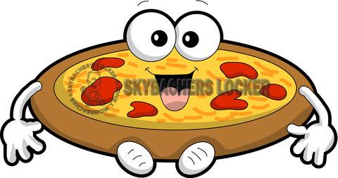 Pizza clipart cartoon Skybacher's Cartoon Locker Vector Clipart