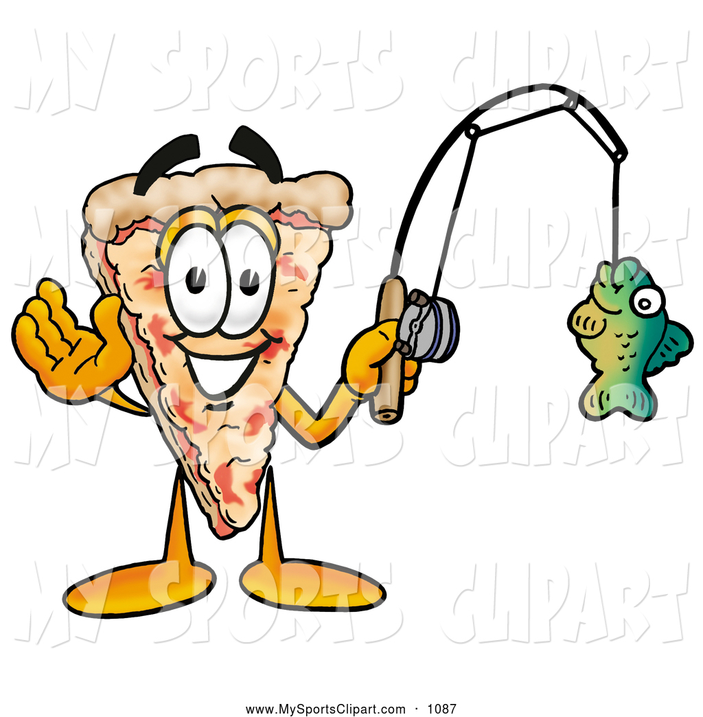 Pizza clipart character Clip of Fish on Clip
