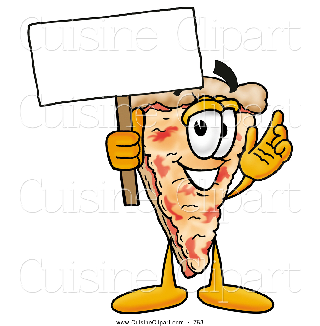 Pizza clipart character Clipart Mascot Sign Cuisine of